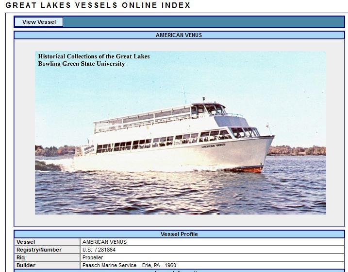 1000 Islands Tour Boat - American Venus