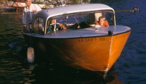 """Calumet Island Orange"" ferry boat used in the 60's"