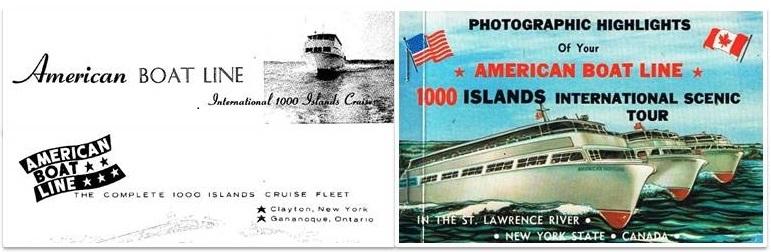 American Boat Line Logo 1963 1972 postcard